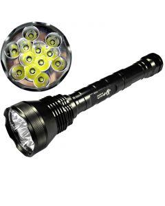 UltraFire 12T6 13800-Lumen 12xCree XM-L T6 5-Mode Memory LED Flashlight Torch(3x26650/3x18650)