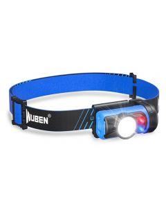 WUBEN H3 LED Scheinwerfer 7 Arbeitsmodi 120 Lumen Mini Scheinwerfer wasserdichtes 360 ° verstellbares Licht