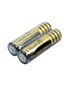 Ultrafire Brc 18650 4000Mah 3.7V Li-Ion Mit Pcb-Batterie (2-Pack)