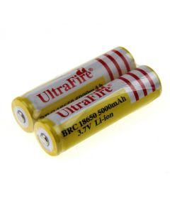 Gelbe Ultrafire Brc 18650 5000Mah 3.7V Ungeschützter Li-Ion-Akku (2 Stücke)