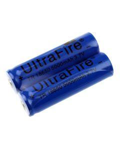 Ultrafire Tr 18650 3.7V 5000Mah Li-Ion Wiederaufladbare Ungeschützte Batterie (1 Paar)