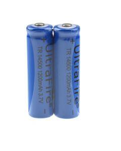 Ultrafire Tr 14500 1200Mah 3.7V Wiederaufladbare Ungeschützte Li-Ion-Batterie (2-Packung)