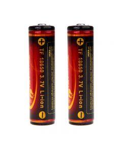 Trustfire 3.7V 3000Mah 18650 Geschützte Li-Ion-Batterie (Ein Paar)