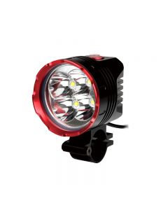 Uniquefire Hd-015 Schwarz Rot Farbe 4 * Cree Xm-L2 3 Modi 4200 Lumen Fahrradlicht Mit 4 * 18650 Wasserdichte Batterien Set