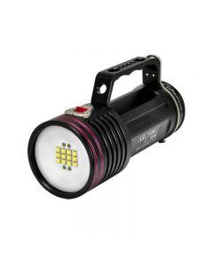 Archon Dg70W / Wg76W 12 * Cree Xm-L2 U2 Led White Light 4 * Rot Cree Xp-E N3 3 Modi Max 7000 Lumen Unterwasser-Fotografieren + 6 * 18650 + Ladegerät