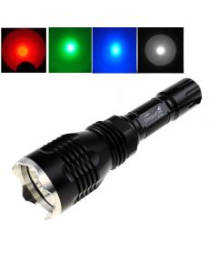 Uniqueefire Hs-802 Cree Red / Blue / Green / White Light Langbereich Led-Taschenlampe Mit Edelstahlkopf