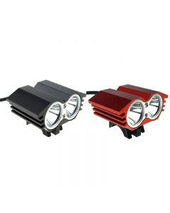 Solarstorm X2 M2 2 * Cree Xml-T6 2000 Lumen 4 Mode Led Bike Light Set Mit 4 * 18650 Batteriepack-Schwarz