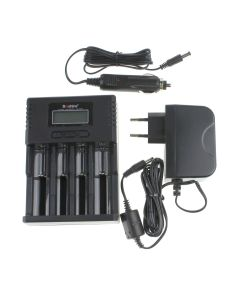 Soshine H4 Lcd Smart Universal Ladegerät Für 26650 18650 16340 Li-Ion Liifepo4 Nimh 1.2V C Aaa Batterie + Autoladegerät
