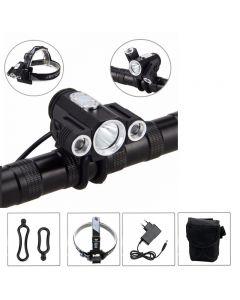 Bk30 3000Lm Front-Led-Fahrrad-Licht 3 * Xm-L T6 Led 4-Modus-Led-Bike-Lichtsatz