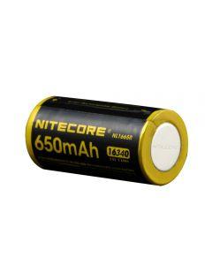 Nitecore Nl1665R 650Mah 16340 Cr123 Eingebauter Micro-Usb-Ladungsport Wiederaufladbarer Li-Ion-Akku 3.6V 2.34Wh Hochleistung