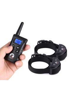 500M Rc Haustierhund Training Kragen Für 2 Hunde Elektrische Schlag Vibrationslicht Stimme Hund Training Gerät Pet Dog Trainer Kleine Hunde Paipaitek Pd520S-2