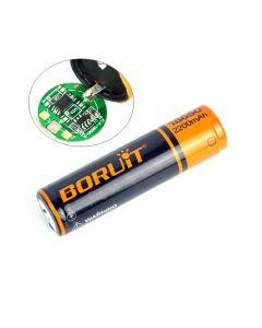 Boruit 2200Mah 18650 Wiederaufladbare Batterie Pcb Geschützt 18650 Batterien Batterie-1-Pc