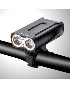 Vordere Lampe Wasserdichte Fahrradbeleuchtung Max 2400Lm Usb-Aufladung 2 T6 Led-Radlampe
