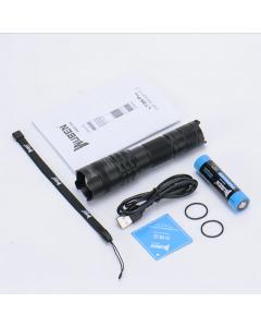 Wuben Lt35 Pro Zoomable Led-Taschenlampe Usb-Wiederaufladbare Fackel 1200 Lumen 18650 Batterie