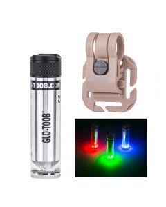 Glo-Toob Gt-Aaa Aurora Rgb 3 Farblicht 7 Modi Unterwasser 200M Warn Signal Diving Externe Taschenlampe Lampe