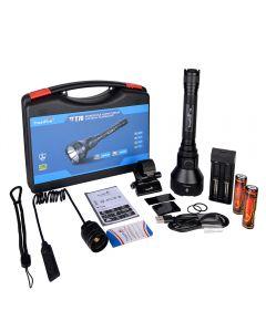 Trustfire T70 Kit Jagd Led-Taschenlampe Leistungsstarke 1000 Meter 2300Lm Hochleistungsaufladbare Led-Taschenlampe