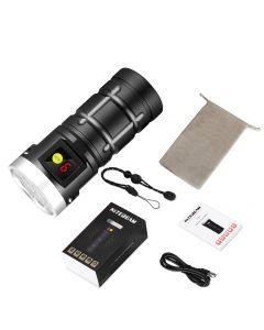 Nitebeam X12UV 9*Osram 6500K 3*UV 365 nm UV USB Typ C LED wiederaufladbare Taschenlampe Kit