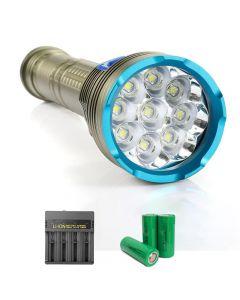 9pcs L2 / T6 Lampe Hochleistung 8000 Lumen Tauchflaschenmagnetschalter für Tauchen Camping