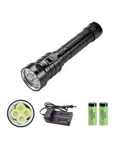 4 x XM-L L2 LED Tauchtaschenlampe 26650 IPX8 wasserdichte Unterwasserleuchte 3 Modi Angeltaschenlampe