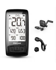 Wasserdichter Meilan M4 Wireless Bike Computer Fahrrad Tachometer Kilometerzähler mit Trittfrequenz- / Geschwindigkeitssensor