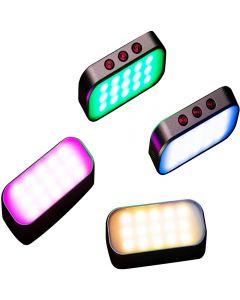 7 Farben Lichttasche Selfie Fülllicht 360mAh Akku für Telefonfotos/Live-Streaming/Zoom-Anrufe/Videoaufnahmen/Disco-Party (1 Stück)