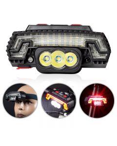 T6 LED Fahrradscheinwerfer USB Ladesensor Scheinwerfer Mountainbike Warnrücklicht 8 Modi