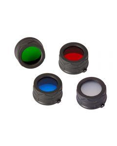 Nitecore Rgb / W (Rot Nfr34, Blau Nfb34, Grün Nfg34, Weiß Nfd34) 34Mm Filter / Diffusor Fit Für Nitecore Mt25, Mt26, Ec25 Led-Taschenlampe