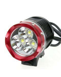 Uniquefire Hd012 3 * Cree Xm-L2 3800Lm 4 Modi Fahrradlicht / Scheinwerfer Mit 4 * 18650 Batteriepack (Rotem Kopf)